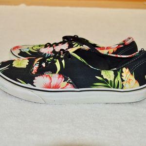 VANS Shoes - VANS Tropical Print Black Casual Sneakers Size 9.5